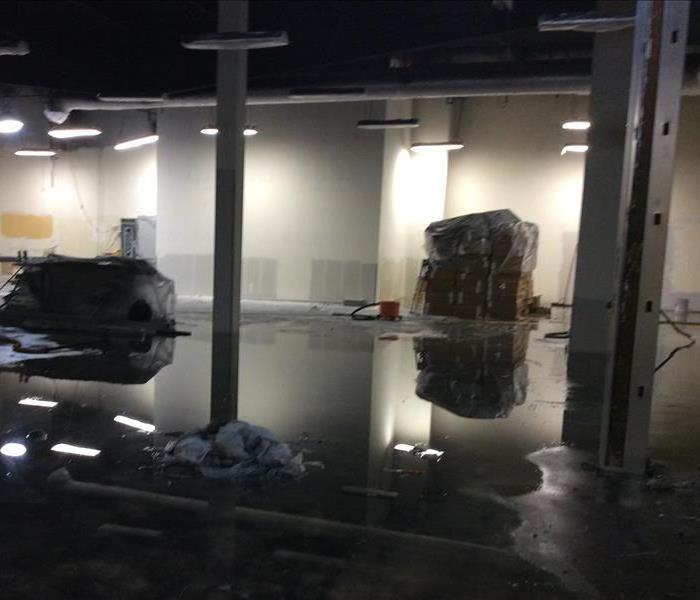 Commercial Water Damage in Santa Maria, CA Before