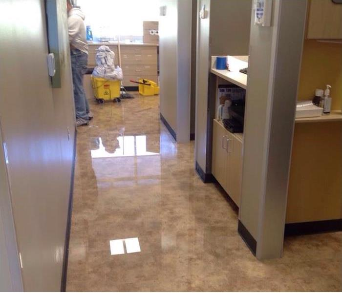 Water on floor of office