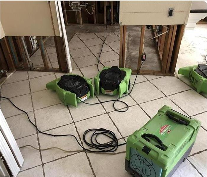 Green Equipment Placed on floor